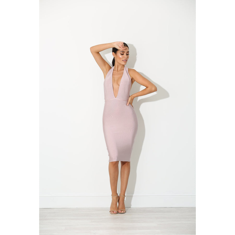 Seriah Backless Bandage Dress Pink