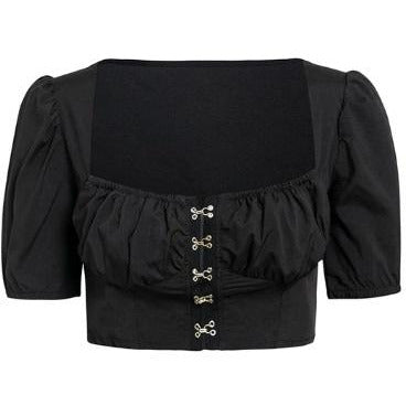 Sharia Crop Top Black