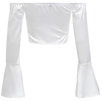 Shelle Satin Blouse White