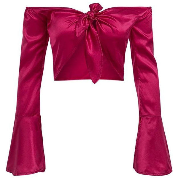 Shelle Satin Blouse Pink