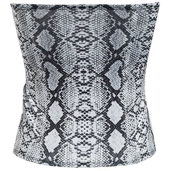 Dolice Snake Print Corset Top