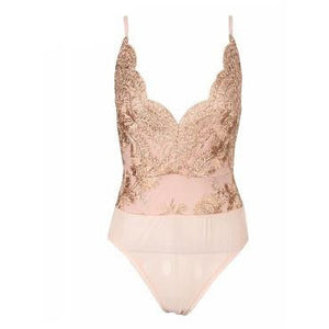 Tanaa Rose Embroidered Bodysuit