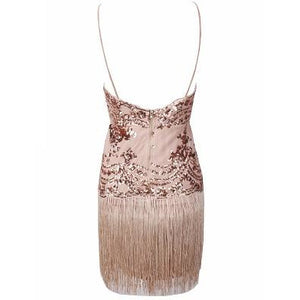 Trelli Rose Tassel Dress