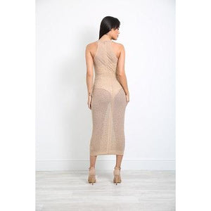 Camile Lace Dress Nude