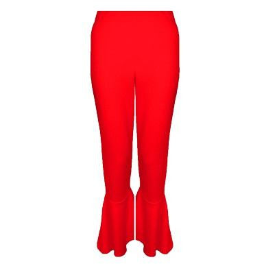 Corisa Frill Crop Trousers Red