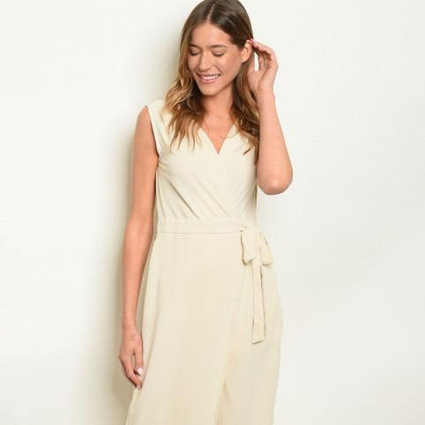 Sand Wide Leg Jumpsuit