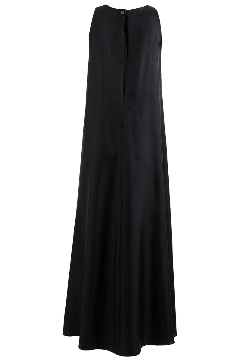 Gradient Lining Maxi Shift Dress