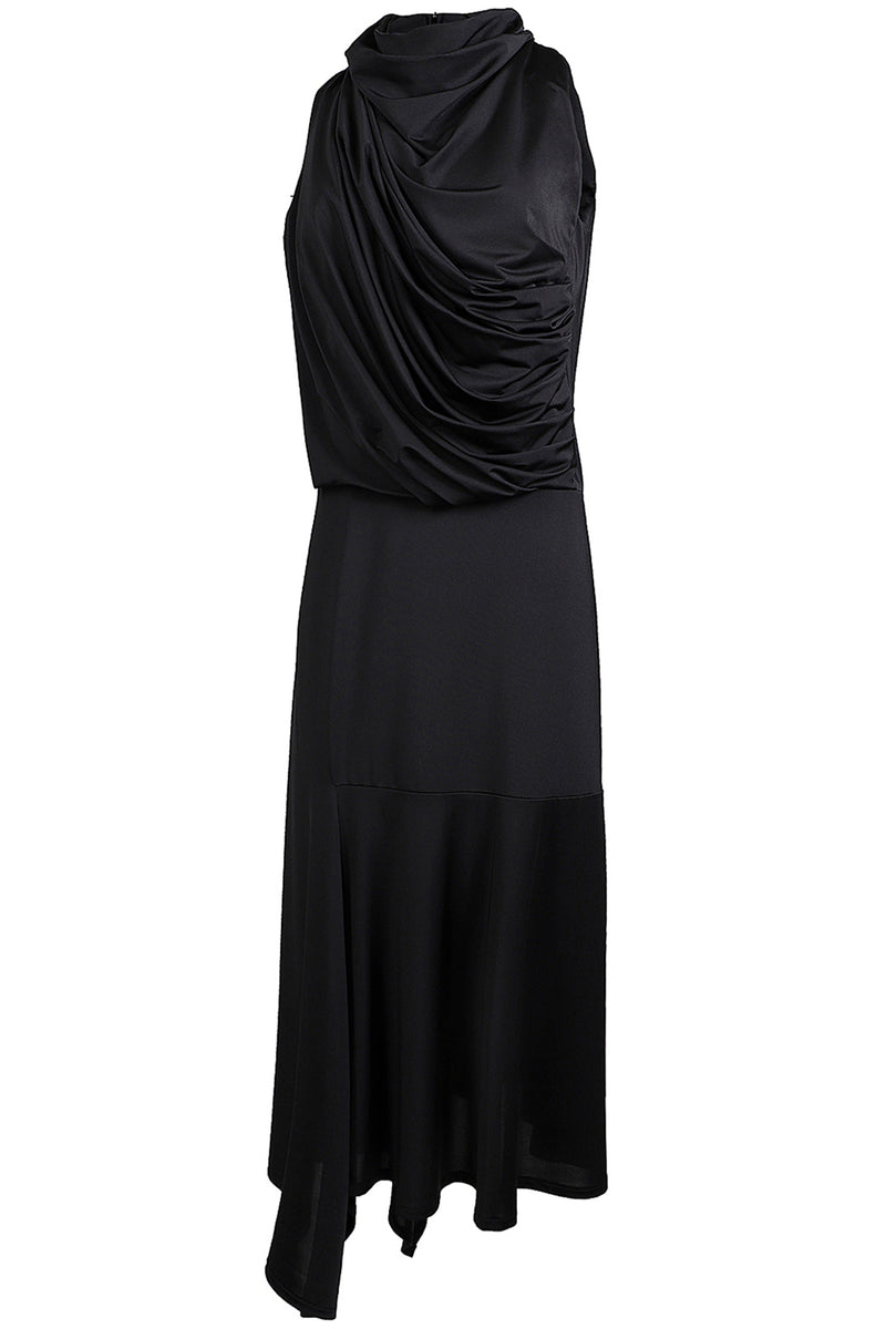Drape Front Asymmetrical Dress