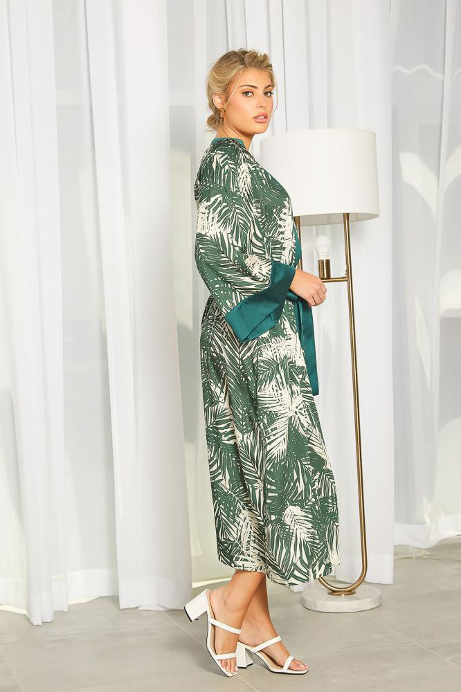 Tropical Print Duster Robe
