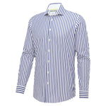 Load image into Gallery viewer, Navy Stripe Long Sleeve Shirt
