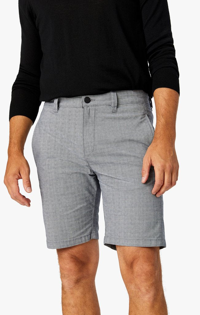 grey lightly checked nevada shorts for men available in all sizes