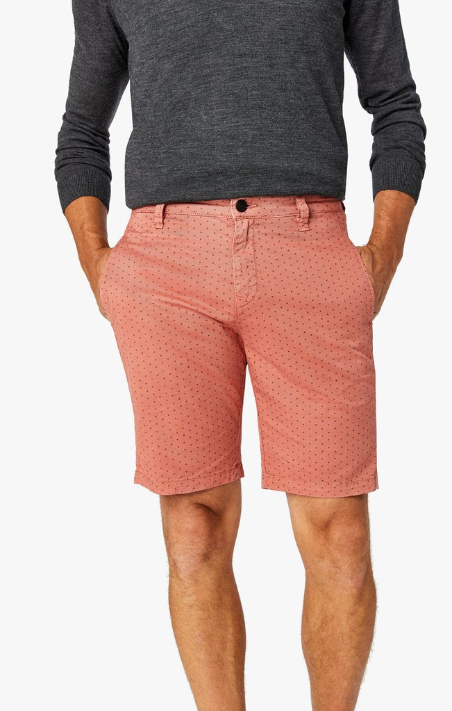 Peach orange mens short with small polka dots in all sizes