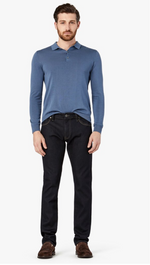 Load image into Gallery viewer, black demin jeans with highlight thread on pockets available in all sizes for men