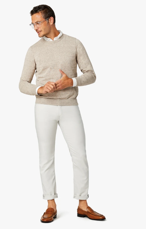 pearl white slim straight pants available in all sizes for men
