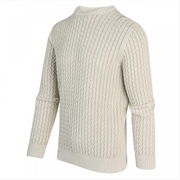 Fisherman Pullover in Silver Birch