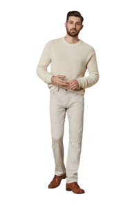 Cool Slim Fit Beige Cashmere Trouser