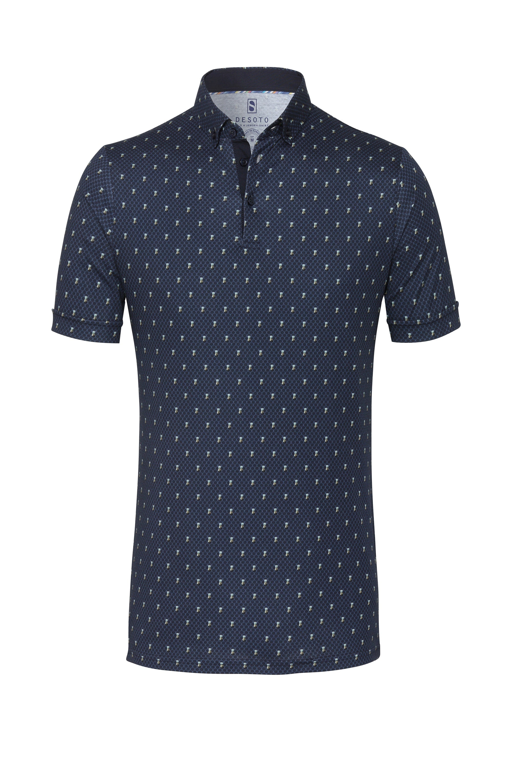 Pineapple Print Polo