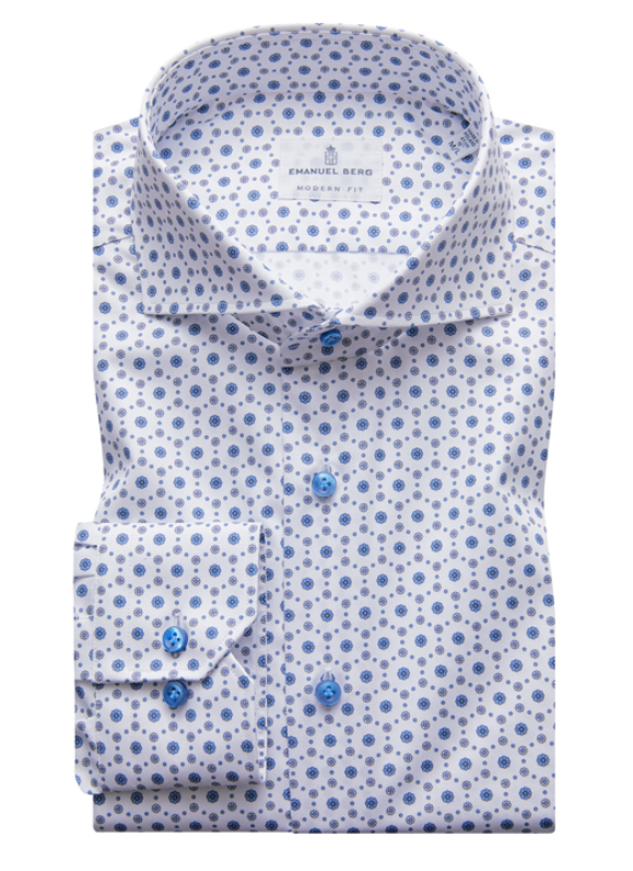 Medallion Blue-Grey Modern Fit Dress Shirt