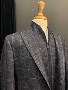 Eric Modern Fit Blue Check Removable Liner Sport Coat
