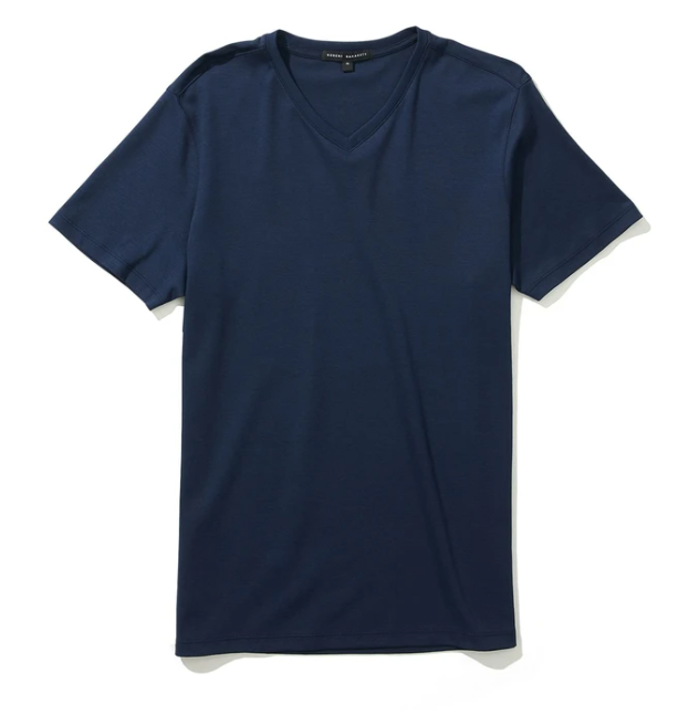 Georgia SS Blue Night V-Neck T-Shirt