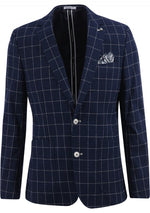 Load image into Gallery viewer, Navy Check Sport Coat