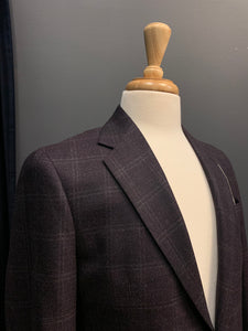 Jack Slim Fit Plum Windowcheck Sport Coat