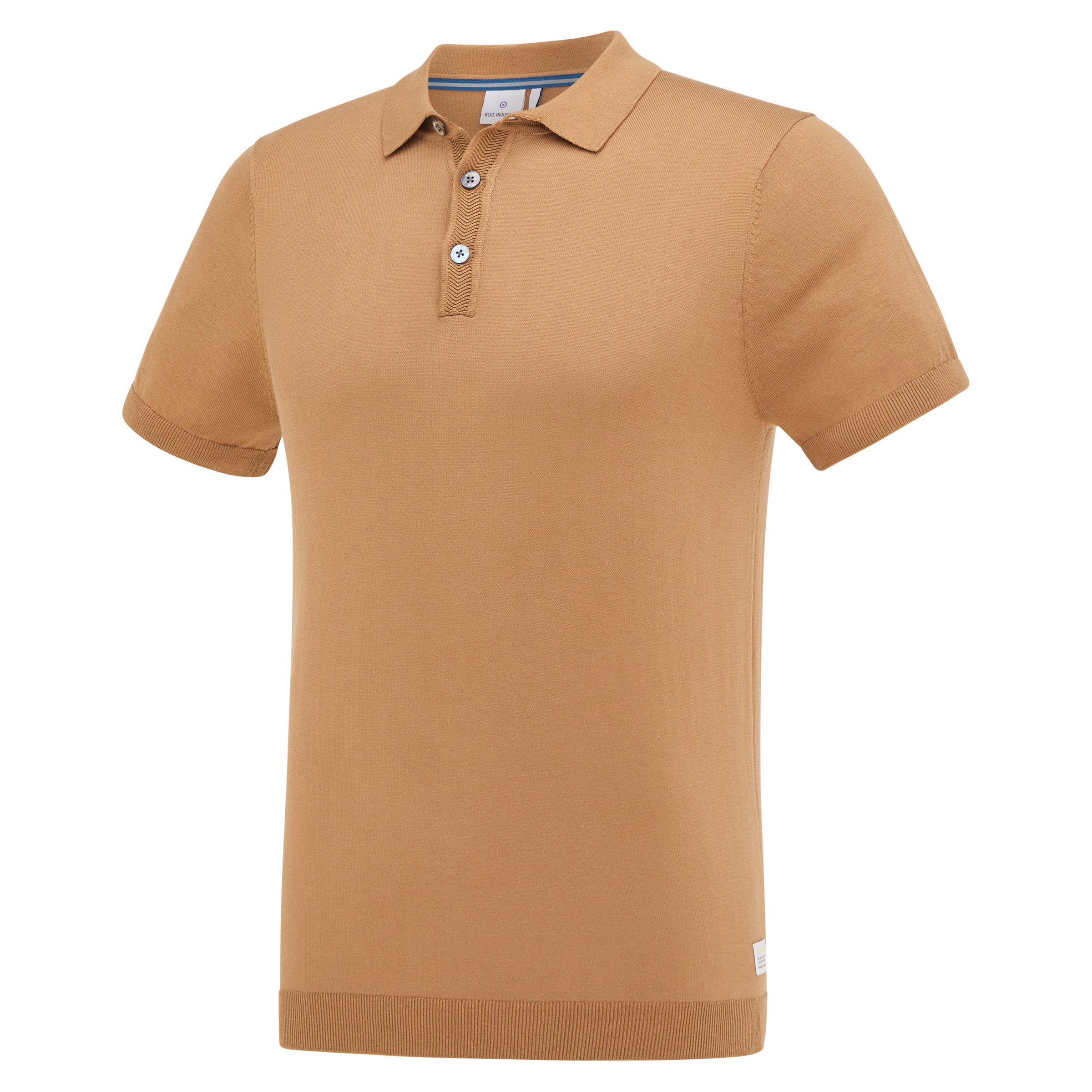 Camel Cotton Knit Polo