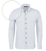 Load image into Gallery viewer, Light Blue Geometric Knit Long Sleeve Shirt
