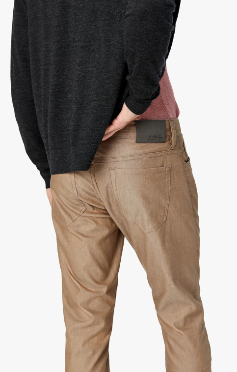 Cool Slim Fit Camel Reversed Twill Trouser