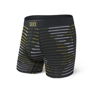 SAXX ULTRA Boxer Brief Green Fragment Stripe