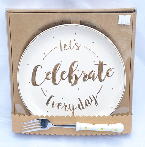 Celebrate Everyday Plate and Fork Set