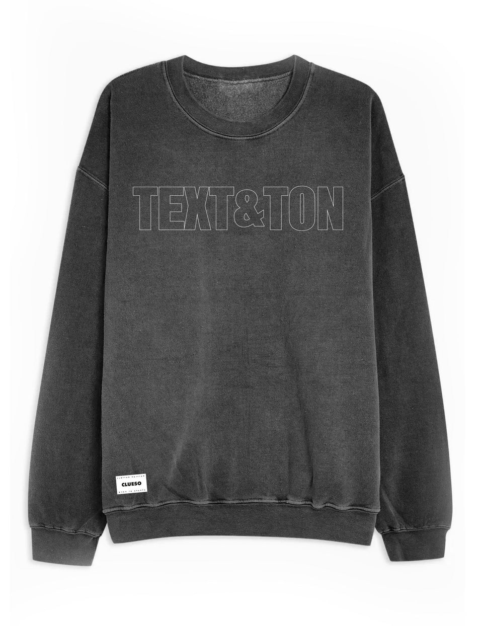 Text und Ton Sweater grau - Clueso Shop