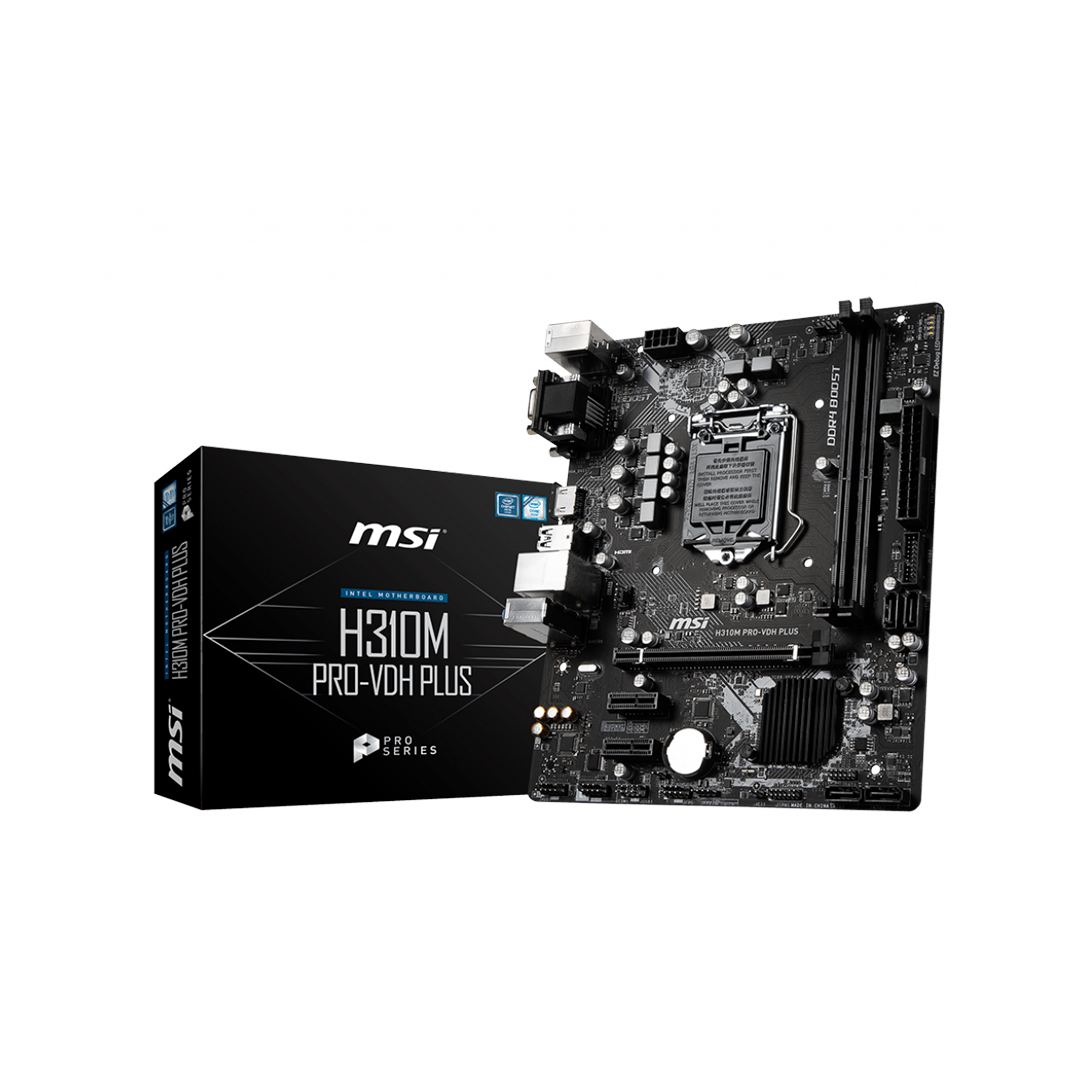 Placa Madre MSI H310M PRO-VDH PLUS Intel H310 HDMI, Micro ATX