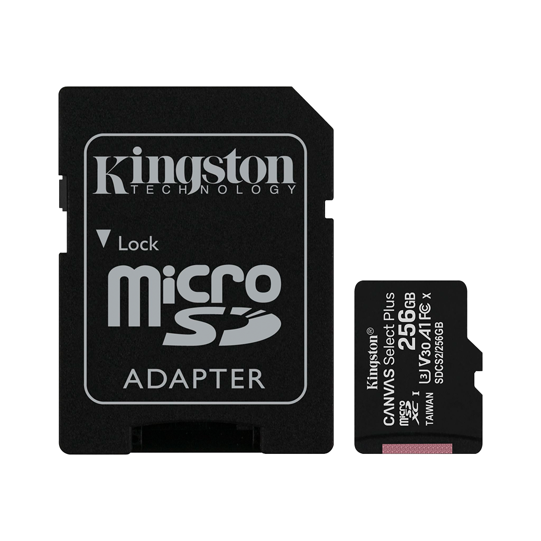 Tarjeta de Memoria microSD Kingston Canvas Select Plus 256 GB