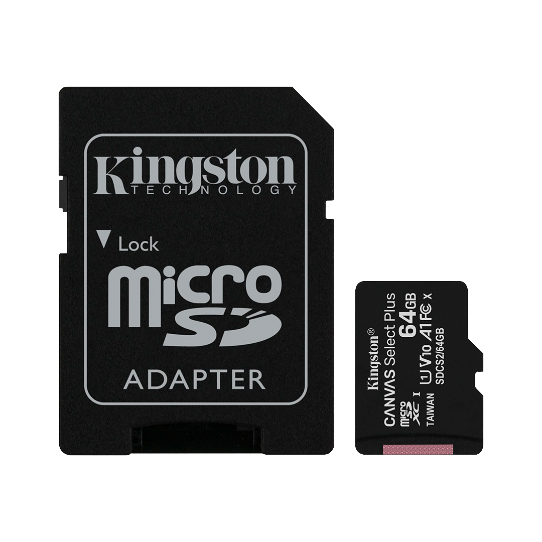 Tarjeta de Memoria microSD Kingston Canvas Select Plus 64 GB