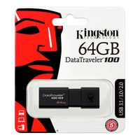 Pendrive Kingston USB 3.1 Gen 1 DataTraveler 100 G3 64GB