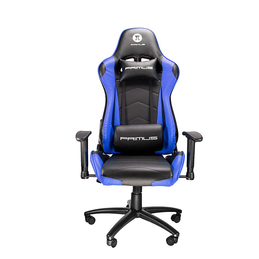 Silla Gamer Primus Gaming Thronos 100T, Reclinación 135º, Hasta 120kg, Azul