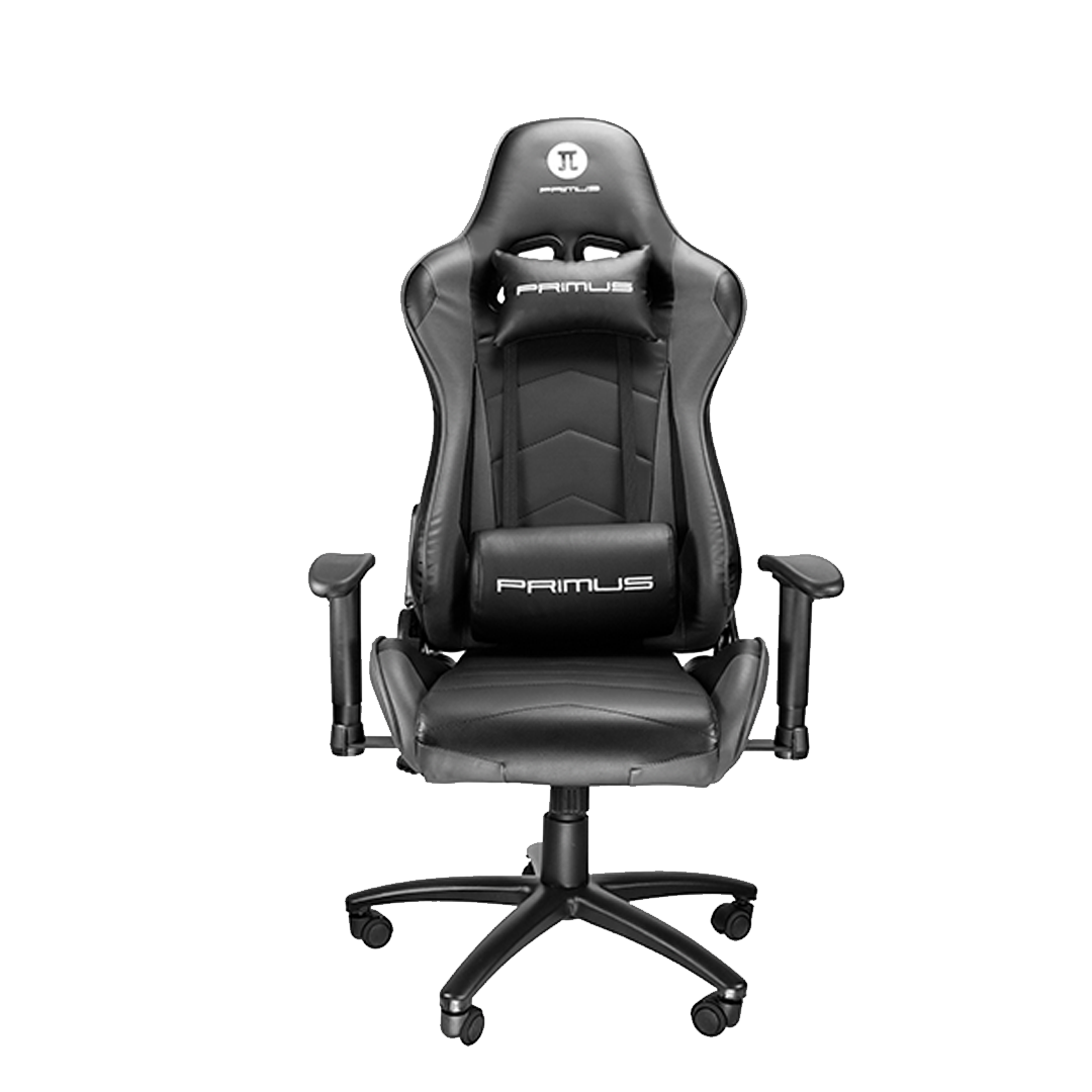 Silla Gamer Primus Gaming Thronos 100T, Reclinación 135º, Hasta 120kg, Negra