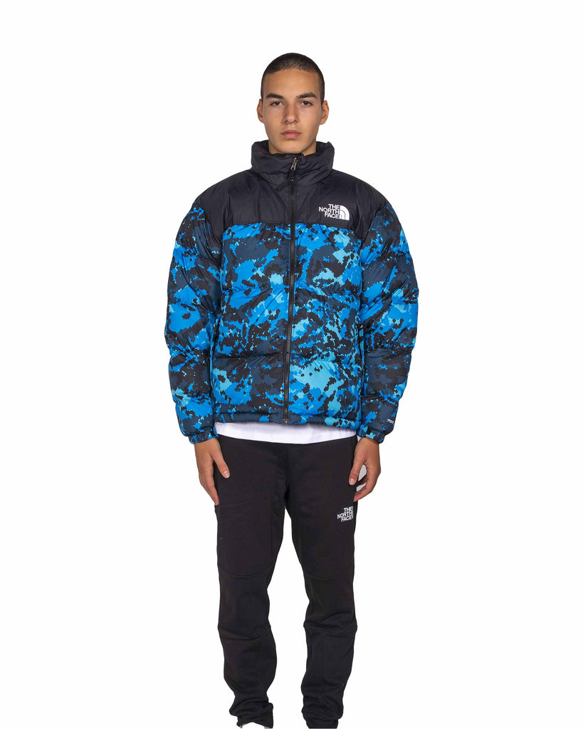 Load image into Gallery viewer, The North Face M 1996 Retro Nuptse Jacket Black Clear Blue
