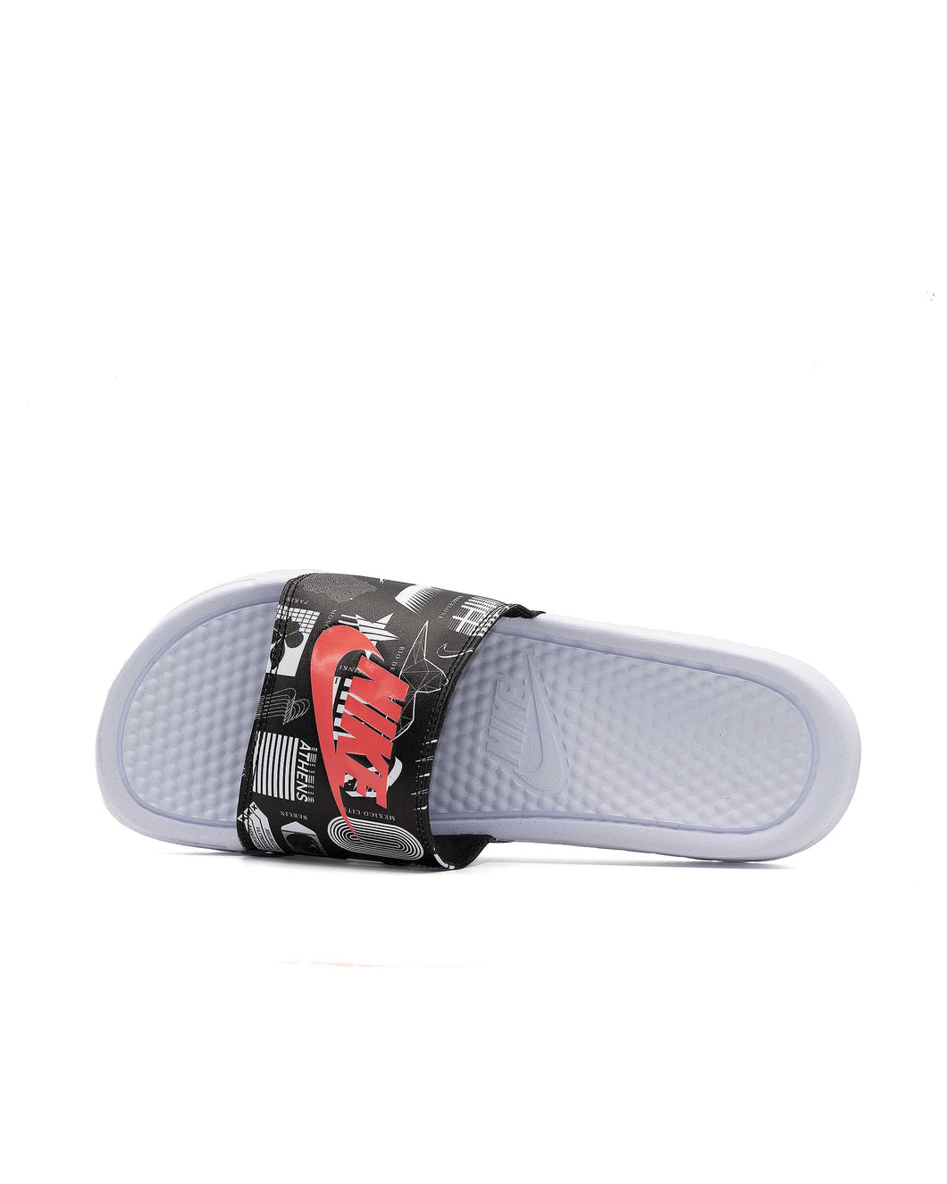 Nike Ciabatte Benassi Jdi White/University Red-Black