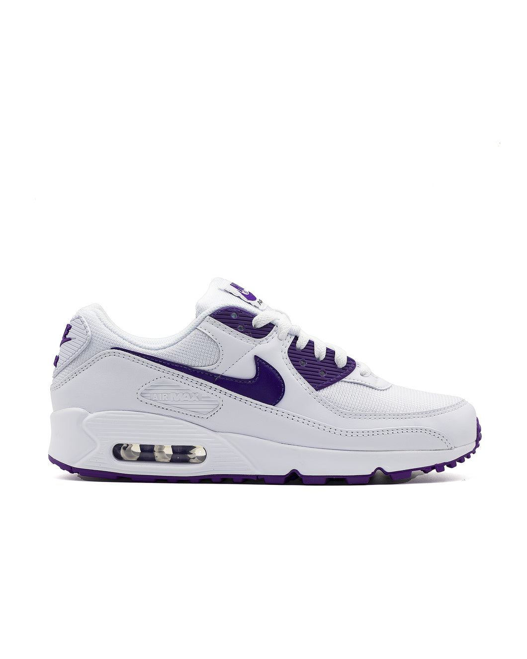Nike Air Max 90 White/Voltage Purple-Black