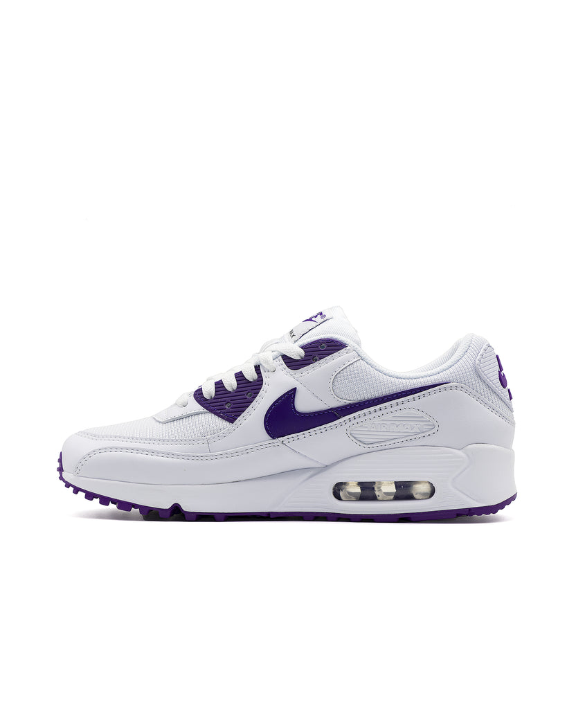 Load image into Gallery viewer, Nike Air Max 90 White/Voltage Purple-Black