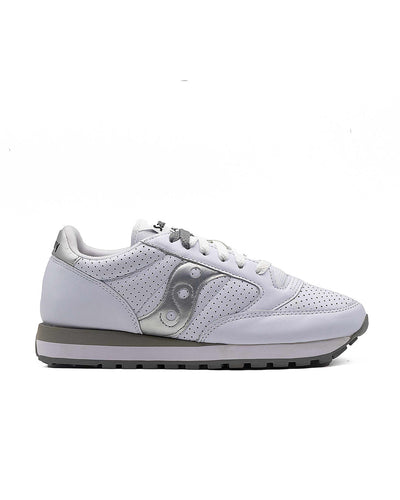 Saucony Jazz Woman Leather White Silver