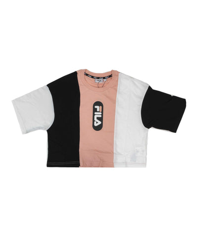 Fila T shirt Basma Black Bright White Coral Cloud