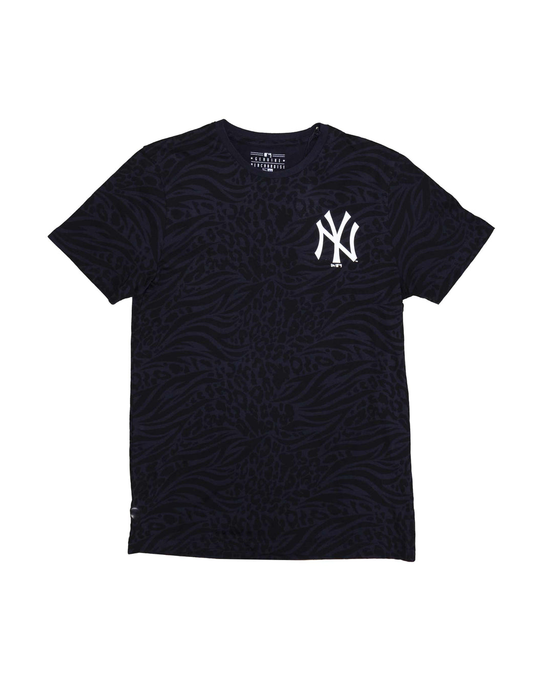 New Era All Over Print T Shirt New York Yankees Navy