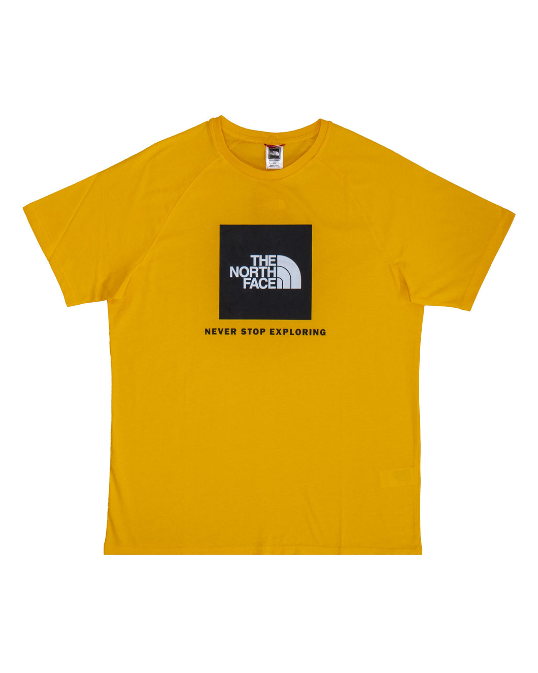 The North Face Rag Red Box T Shirt Summit Gold