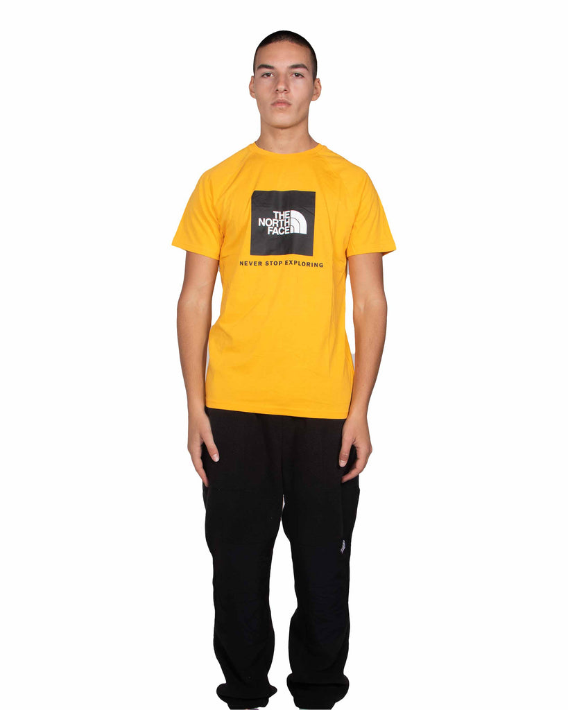Load image into Gallery viewer, The North Face Rag Red Box T Shirt Summit Gold
