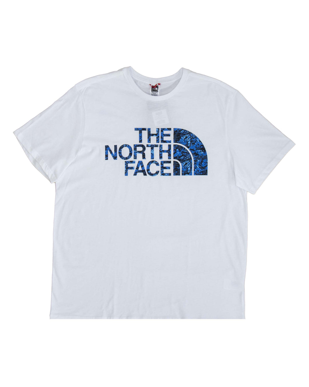 The North Face T Shirt Standard Ss Tee White Clear Blue