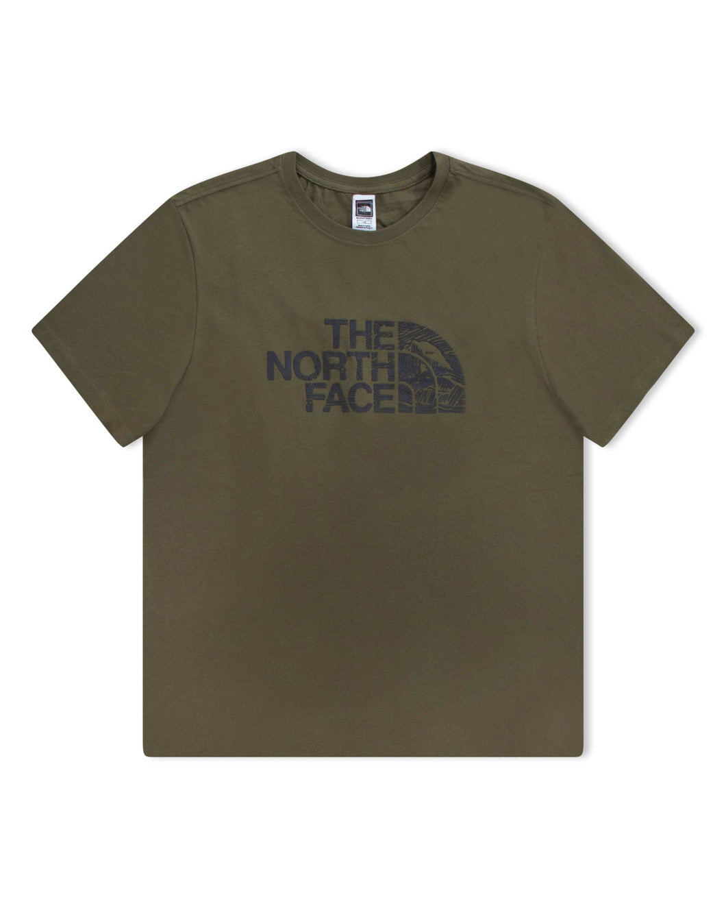 The North Face T Shirt Woodcut Dome Military Olive