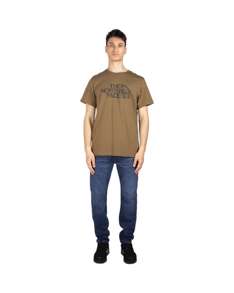 Carica l'immagine nel visualizzatore di Gallery, The North Face T Shirt Woodcut Dome Military Olive